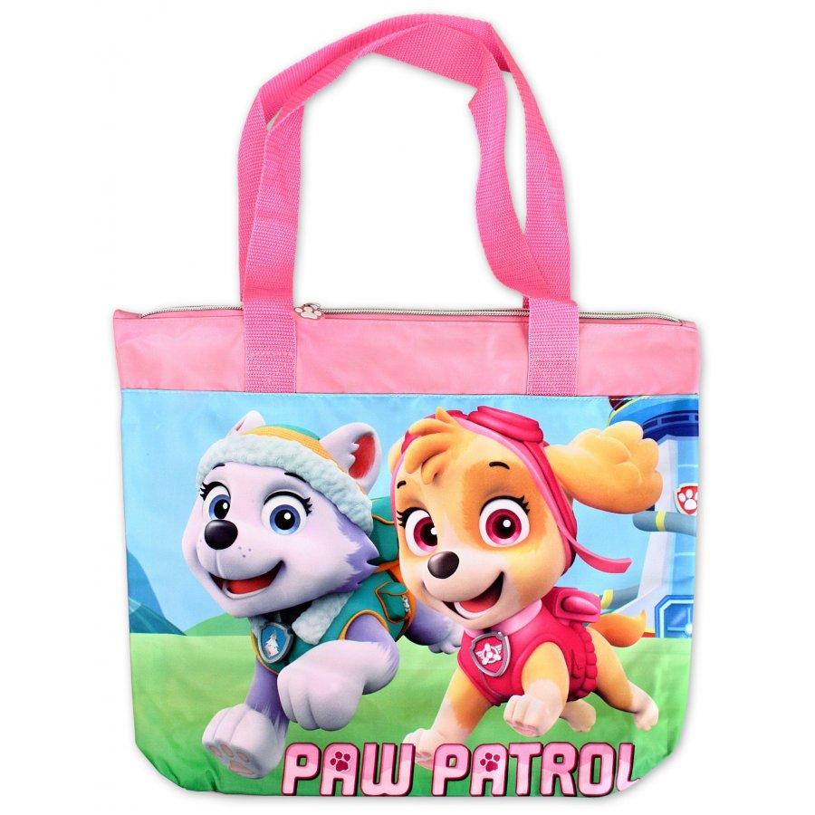 Setino · Dívčí plážová taška Tlapková patrola - Paw Patrol - s obrázkem stěňat Skye a Everest - 40 x 27 x 11 cm