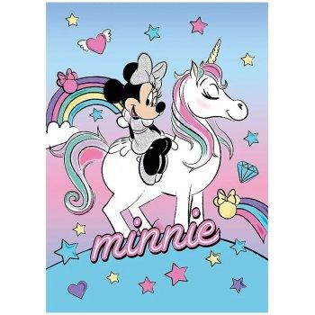 Flísová deka Minnie Mouse na jednorožci - Disney