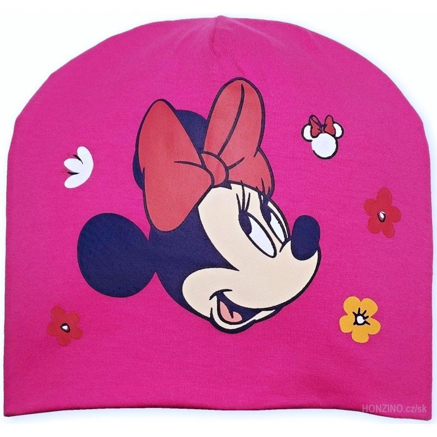 Setino · Dívčí jarní / podzimní čepice Minnie Mouse - Disney - tm. růžová 52
