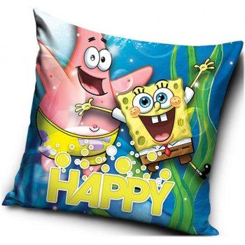 Polštář Spongebob a Patrik - HAPPY