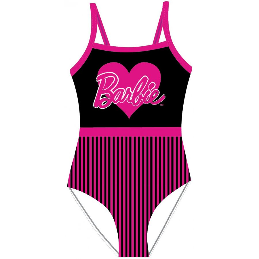 Dívčí jednodílné plavky Barbie se srdíčkem
