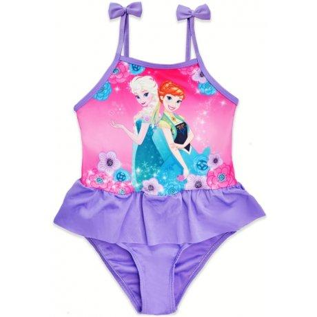 Dívčí jednodílné plavky Ledové království - Frozen - fialové