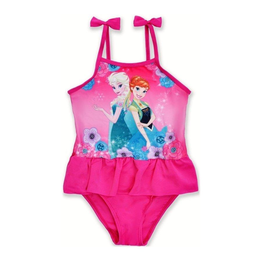 Dívčí jednodílné plavky Ledové království - Frozen - růžové