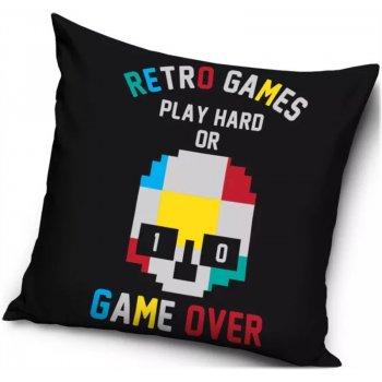 Polštář Retro Games - Play hard or game over