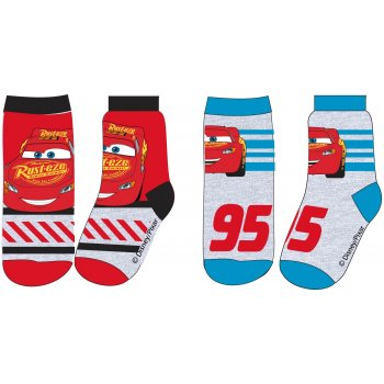 Chlapecké ponožky Auta - Blesk McQueen (2 páry)