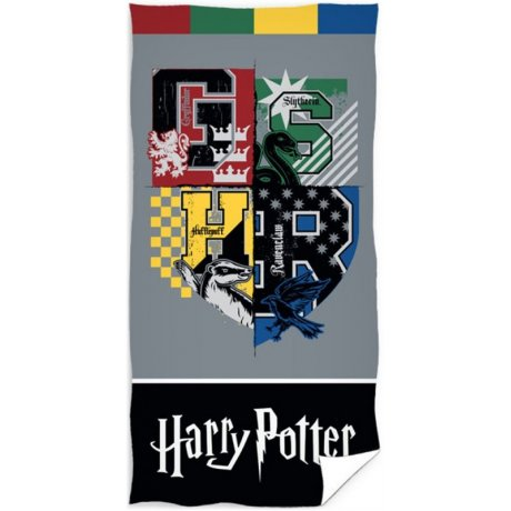 Plážová osuška Harry Potter - Erby s monogramy