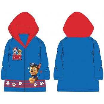 Dětská pláštěnka Tlapková patrola s červenou kapucí