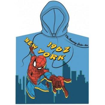 Dětské pončo - plážová osuška s kapucí Spiderman - New York 1962