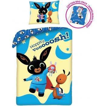 Bavlněné ložní povlečení Zajíček Bing - Hoppity Vooooosh!