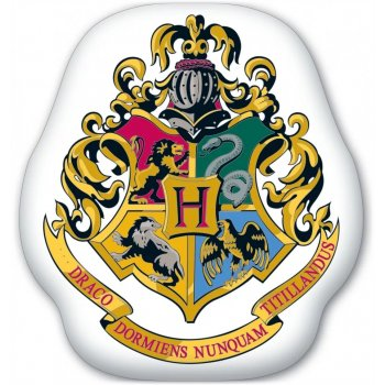 Tvarovaný 3D polštář Harry Potter - erb Hogwarts