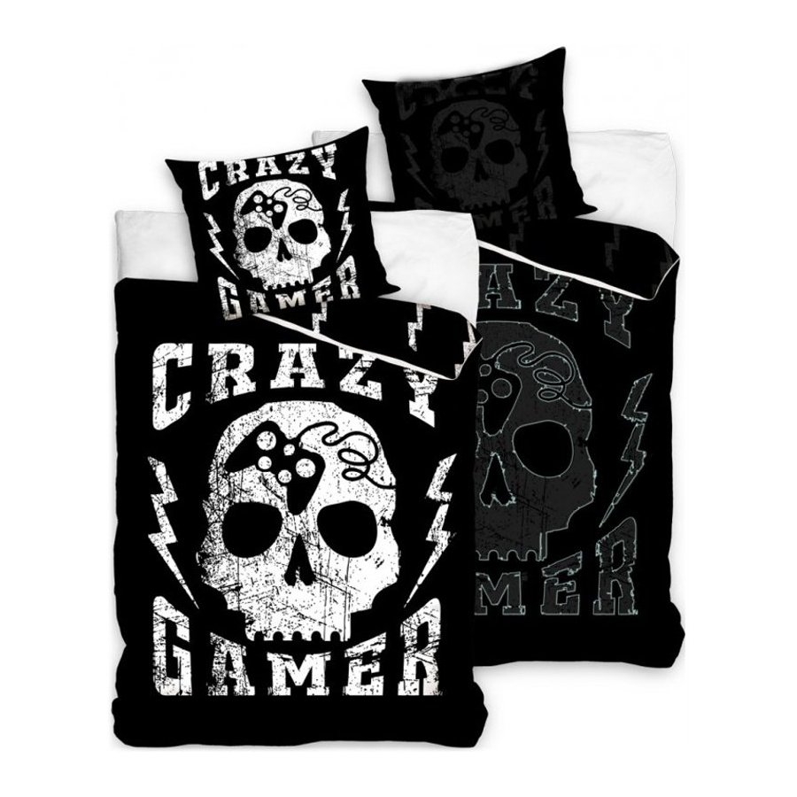 Bavlněné ložní povlečení Crazy Gamer - se svítícím efektem