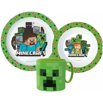 Sada plastového nádobí Minecraft s hrnkem