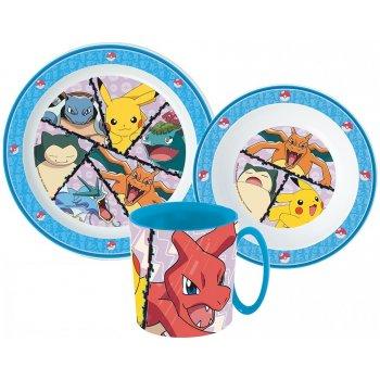 Sada plastového nádobí Pokémoni s hrnkem