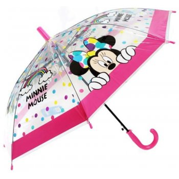 Dětský transparentní deštník Minnie Mouse - Disney