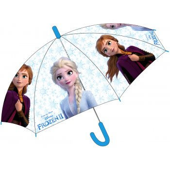 Dívčí transparentní deštník Ledové království - Anna a Elsa