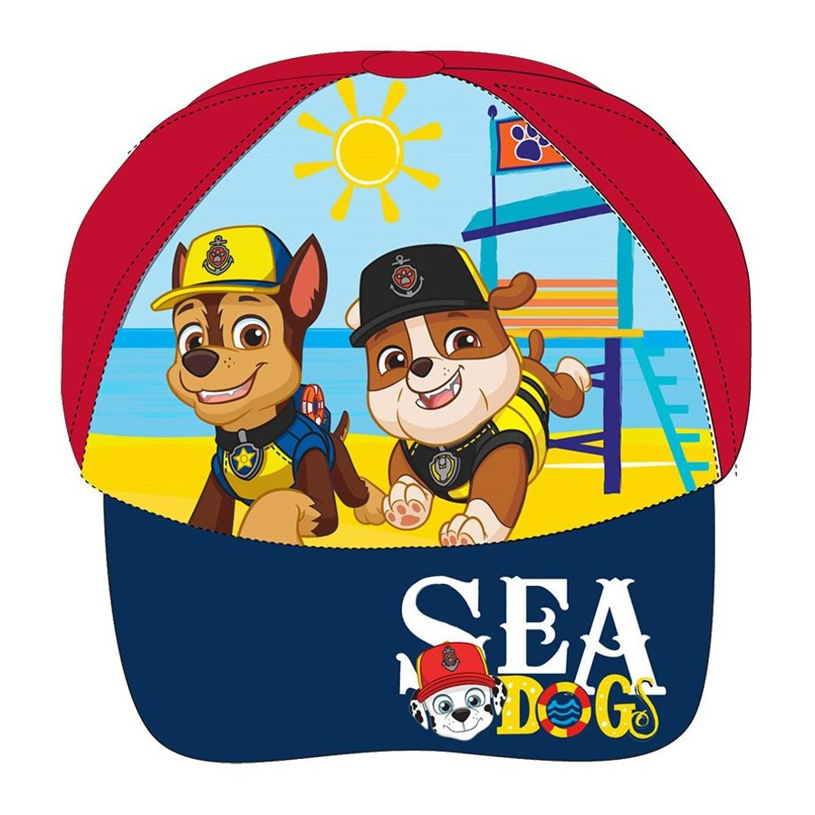 E plus M · Dětská kšiltovka Tlapková patrola - Paw Patrol - motiv Sea Dogs 52 Červená
