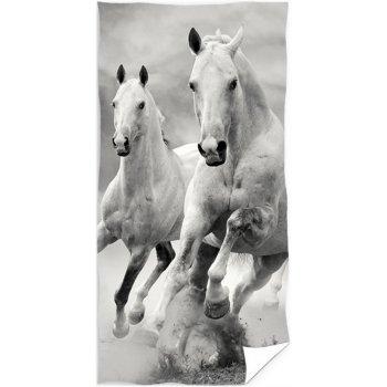 Bavlněná plážová osuška Divocí koně