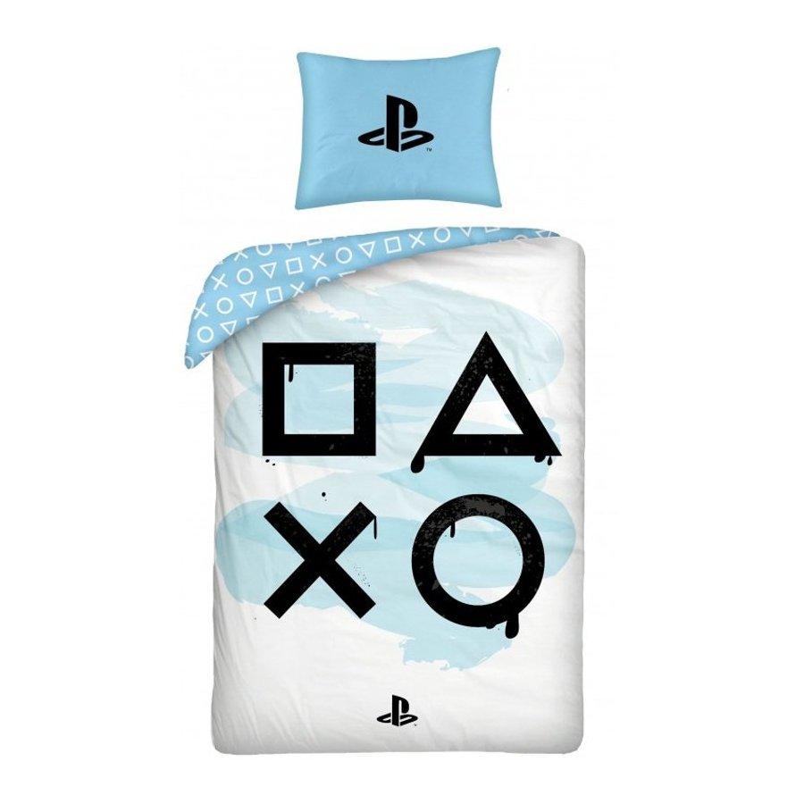 Bavlněné ložní povlečení PlayStation - modré
