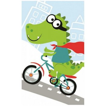Dětský ručník Krokodýl na kole
