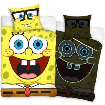 Bavlněné ložní povlečení Vysmátý SpongeBob - se svítícím efektem