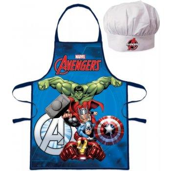 Dětská zástěra s kuchařskou čepicí Avengers