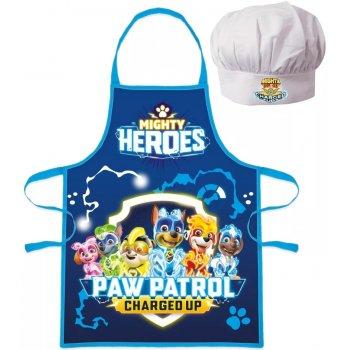 Chlapecká zástěra s kuchařskou čepicí Tlapková patrola - Charged Up