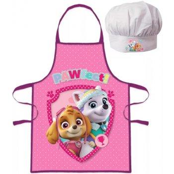 Dívčí zástěra s kuchařskou čepicí Tlapková patrola - PAWfect!