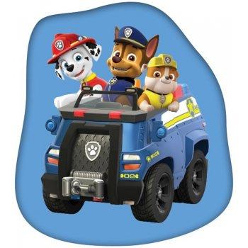 Tvarovaný polštář Tlapková patrola v zásahovém vozidle