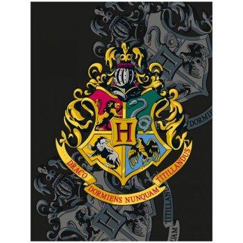 Fleecová deka Harry Potter s erbem školy čar a kouzel v...