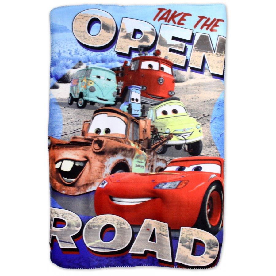 Setino · Fleecová deka pro kluky - Auta - Cars - Blesk McQueen - 100 x 140 cm