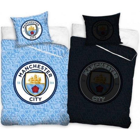 Bavlněné ložní povlečení Manchester City - se svítícím efektem