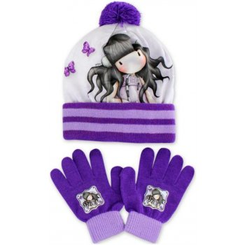 Dívčí zimní čepice + prstové rukavice Gorjuss - Santoro London