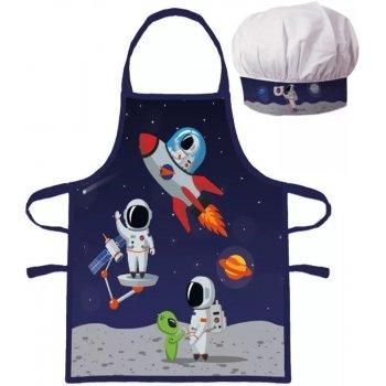 Dětská zástěra s kuchařskou čepicí Kosmonauti