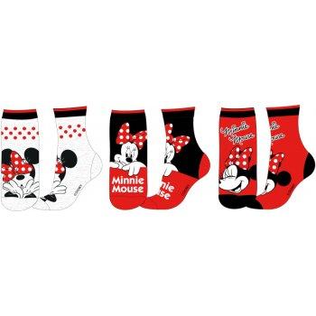 Dívčí ponožky Minnie Mouse (3 páry)