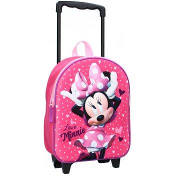 Dětský cestovní 3D batoh na kolečkách Love Minnie