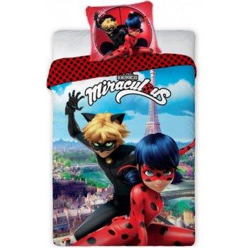 Bavlněné ložní povlečení Kouzelná beruška a Černý kocour v Paříži