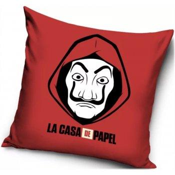 Povlak na polštář Papírový dům - La casa de papel - červený