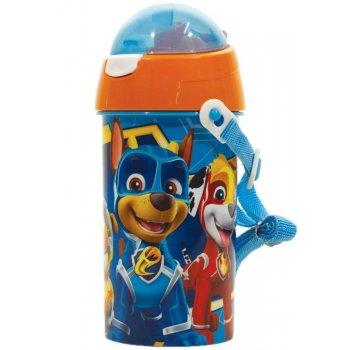 Plastová láhev na pití s víčkem Tlapková patrola