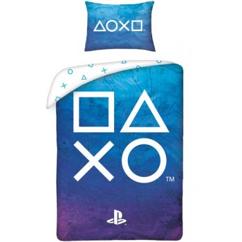 Bavlněné ložní povlečení PlayStation - tm. modré