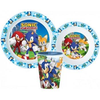 Sada plastového nádobí Ježek Sonic s kelímkem