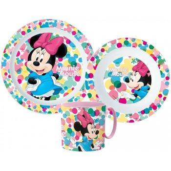 Sada plastového nádobí Minnie Mouse s hrnkem