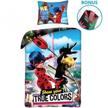 Bavlněné ložní povlečení Kouzelná beruška a Černý kocour - True Colors